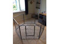 Play pen - metal - puppy dog bunny rabbit - cage enclosure