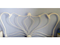 Laura Ashley White Metal Headboard for king-size bed