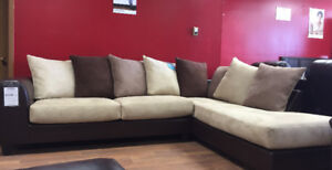 Brand new Made in Canada 2 pcs sectional $1198 only GREAT SAVING