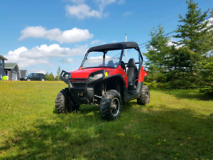 2011 Polaris RZR800 with Tilt Deck Trailer