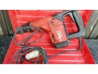 Hilti hammer drill with attachments