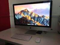 "Apple iMac 5K 27"" with mouse and keyboard"