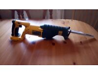 Lightly used Dewalt DC385 XRP 18 v cordless Reciprocating saw, GWO, see photos and details