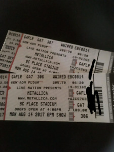 Metallica and avenged sevenfold August 14th