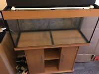 beech colour 4 ft juwel fish tank and stand for sale