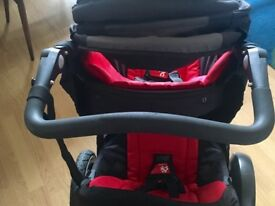 Phil and Ted double buggy explorer red and black