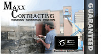 Maxx Contracting over 35 years of experience with commercial, i