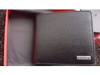 "NEW HUGO BOSS ""ELEMENT"" 8CC SOFT BLACK GRAINED LEATHER WALLET WITH BOSS PRESENTATION BOX"