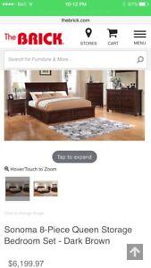 8 Piece Bedroom Set-Queen