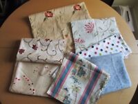 7 PIECES OF DIFFERENT PATTERNED FABRIC