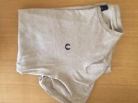 Fred Perry (small) cream crew neck t-shirt
