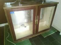 Large double display fridge. Bar, man cave