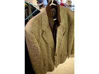 HUGO BOSS MENS JACKET CASUAL SMART KAHKI GREY medium size