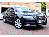 AUDI A6 2.7 TDI SE AUTOMATIC 4 DR SALOON FSH SATNAV LEATHER HPI CLEAR 2 KEYS EXCELLENT CONDITION