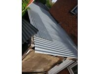 8 GALVANISED STEEL 8 X 2 FT ROOFING SHEETS