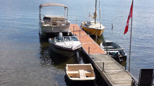Two 4x10 Aluminum Docks and Accessories