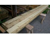 timber / wooden feather edge cladding boards, ideal for shed or fence building