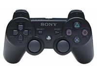black ps3 controller