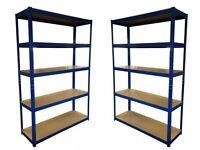 HEAVY DUTY 174kg/shelf BLUE Storage shelves 180cm x 120cm x 40cm Metal Racking Garage £48 delivery
