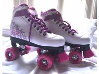 Quad Roller Skates SFR Vision II - White/Purple - Size 3 (Girls)