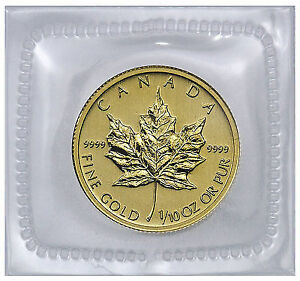 gold maple leaf/Pièce or feuille d'érable 1987 1/10 oz