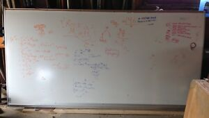 Huge magnetic white board