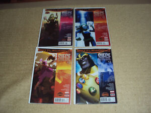 SECRET WARS: SIEGE, COMPLETE SET #1 - 4, MARVEL COMICS, NM