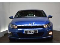 VOLKSWAGEN SCIROCCO 1.4 GT TSI BLUEMOTION TECHNOLOGY 2d 123 BHP (blue) 2016