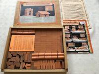 Vintage Collectable Building Bricks Construction Kit