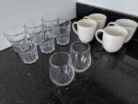 Glassware - Water Glasses, Wine Glasses, Coffee Mugs - price is for everything