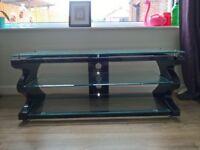 Kaorka K12 TV Stand / Table / Bench - Black / Glass