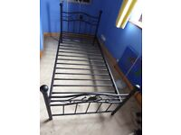 3ft single steel bed frame black engraved in very good condition was £250-300 (its not a argos one)