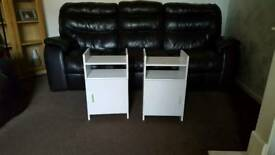 Nice pair of white bedside tables (delivery available)