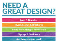 Need a Great Design? | Logo | Business Card | Flyer | Menu | Infographic | Photo Retouching |
