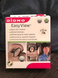 Diono baby- back seat, easy view mirror