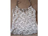 Ladies vest top. Size 12. Per Una.