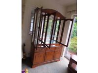 Glass Fronted Dresser/Display Cabinet and matching Corner Television Cabinet