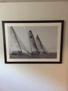 Framed Sail Boats Picture