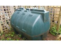 1900ltr domestic heating oil tank + heating oil