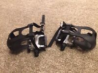 Bike Pedals - unused with straps x3
