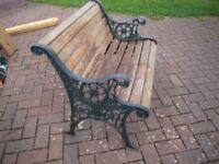 cast iron garden bench(small) requie refurb