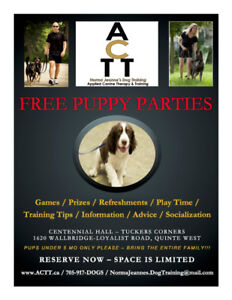 FREE PUPPY PARTY & PIZZA
