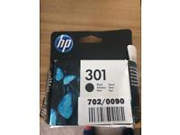HP ink cartridge black 301