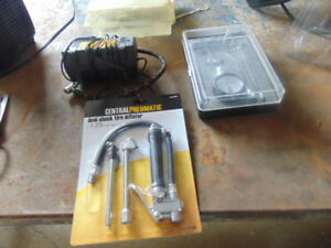 12 VOLT COMPRESSOR & 2 AIR CHECK GAUGES NEW
