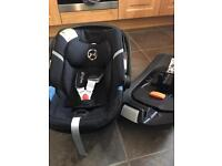 Cybex Aton 4 car seat and isofix base