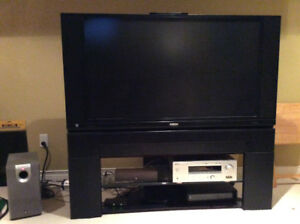 "ULTRAVISION 50"" TV, STAND AND SURROUND"