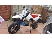 Crf70 WPB 125 road registered pit bike with 140 engine