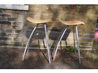 A pair of kitchen bar stools