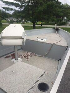 14ft aluminum boat,motor and trailer