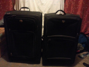 New and used luggage